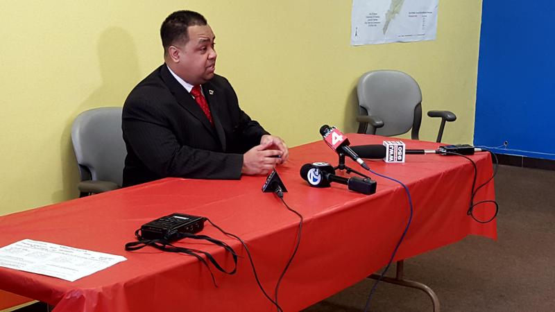 Coleman Young Jr. announces he's running for mayor in Detroit.