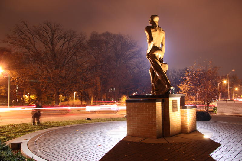 "The ""Sparty"" statue on the MSU campus"