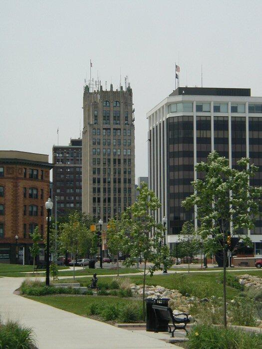 Downtown Jackson, Michigan.