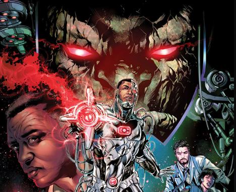 D.C. Comics superhero Cyborg. Cover art by Will Conrad, colors Ivan Nunes