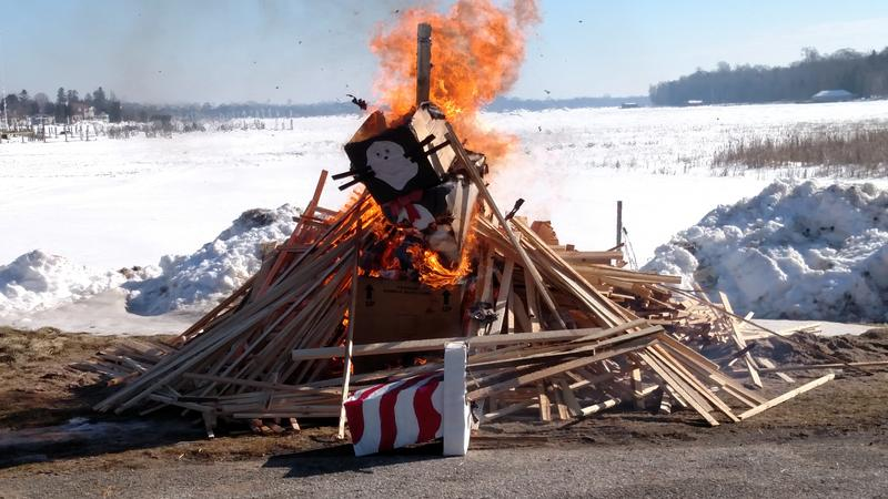 The annual Ceremonial Snowman Burning at Snowfest in Cedarville, Mich. on Saturday, Feb. 18
