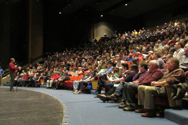 The auditorium at City High Middle School in Grand Rapids sits 600 people.