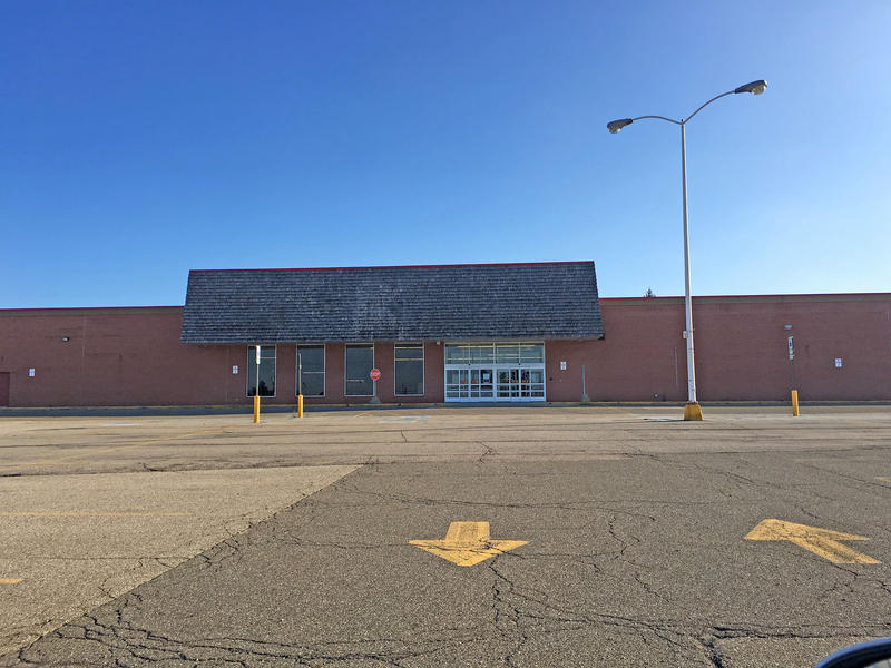 An empty big box store - a former K-Mart in Grand Blanc Michigan