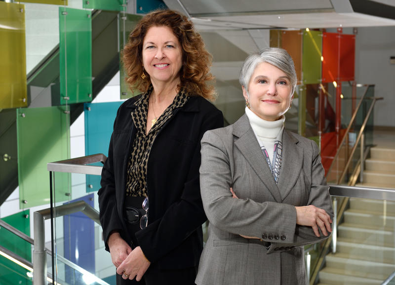 Clare Luz (left) and Joan Ilardo (right)