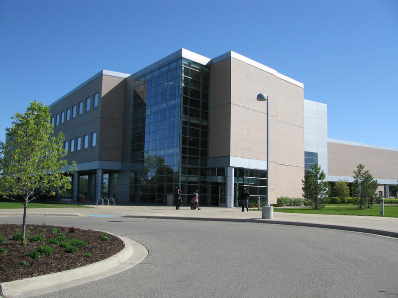 On the campus of Mott Community College