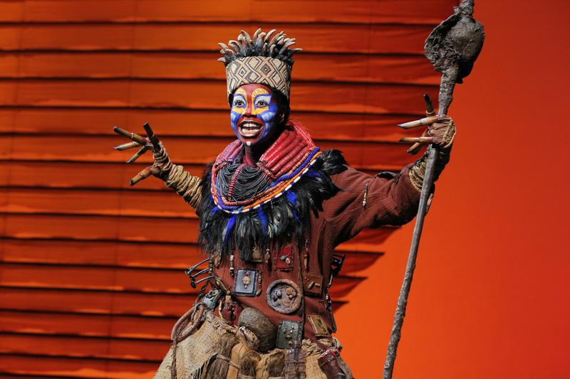 "Buyi Zama as ""Rafiki"" in THE LION KING North American Tour."