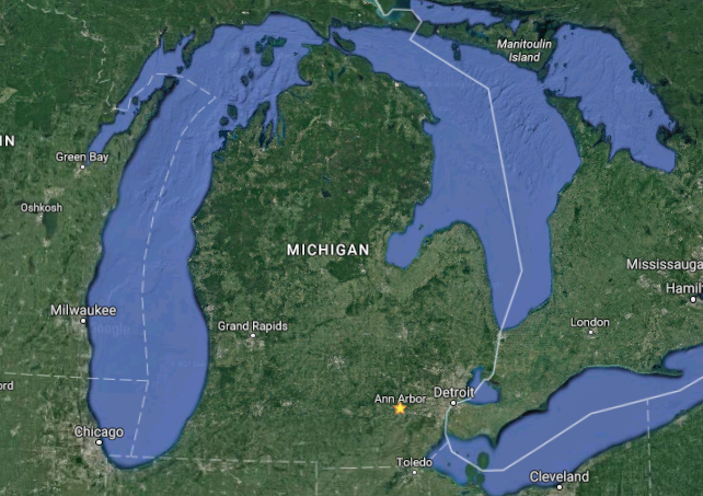 Schaetzl said glaciers carved out all of Michigan's peninsulas.
