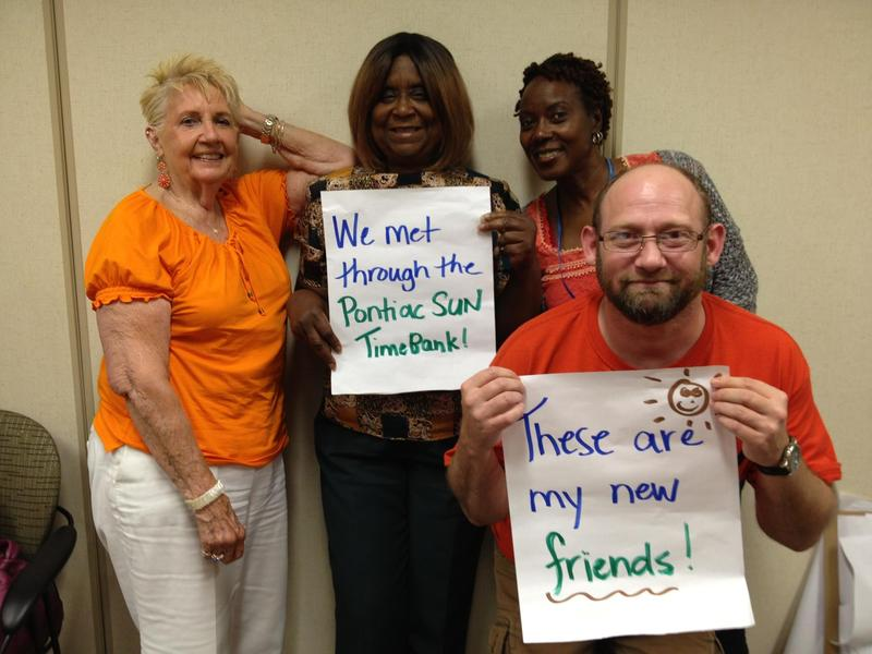 Members of the Pontiac SUN TimeBank