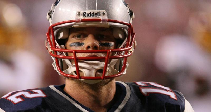 Tom Brady in 2009, quarterback for the New England Patriots.