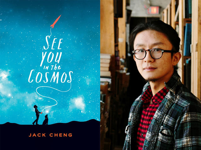 picture of book cover and Jack Cheng side by side