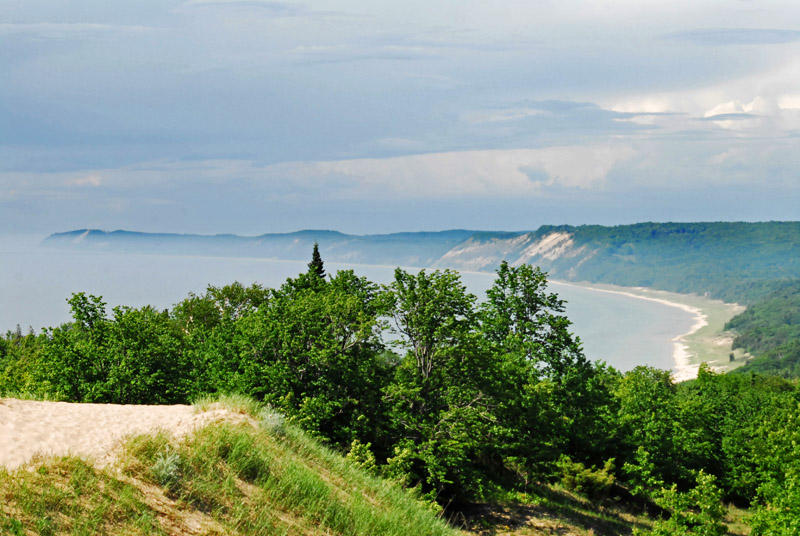 The view from the top of the Arcadia Dunes.