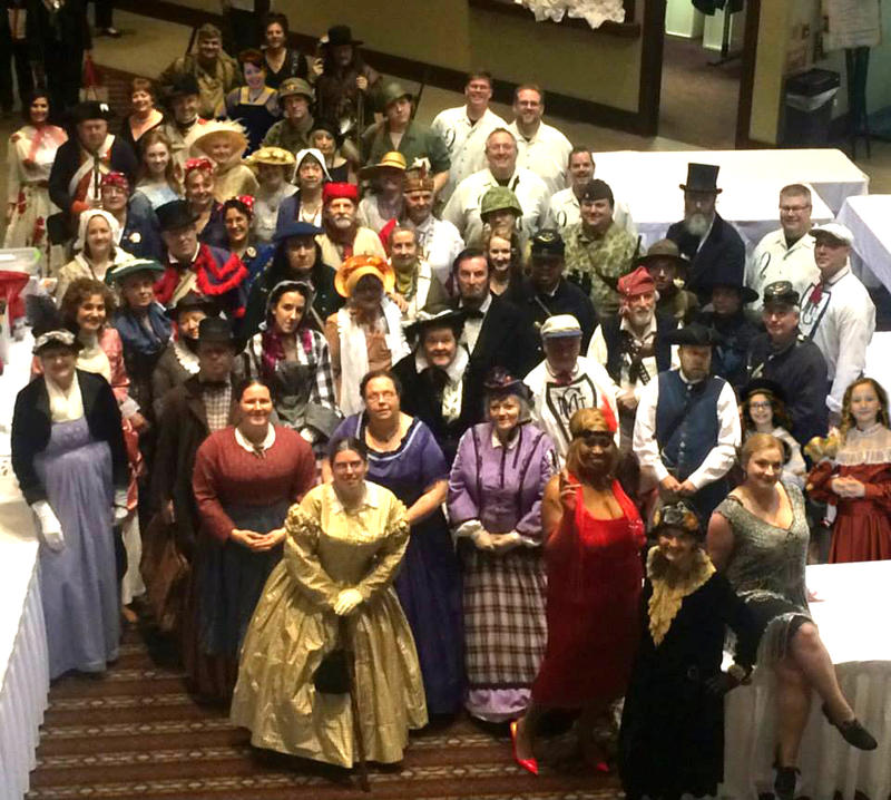 History through fashion - at the 2015 conference of the Historical Society of Michigan.
