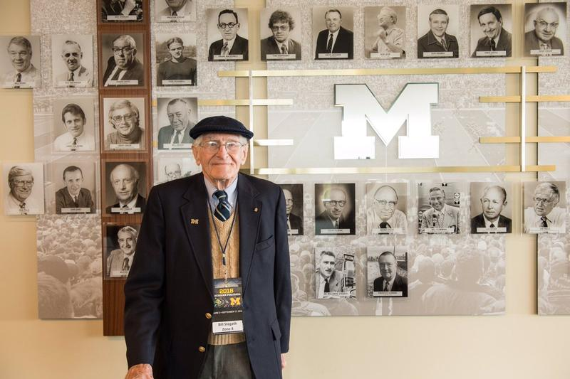 Bill Stegath in September at his induction into the Michigan Stadium Media Hall of Fame.
