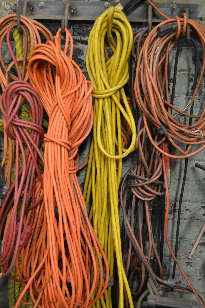 Electrical cords in the shop.