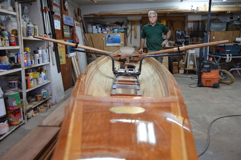 Canoe Mike's workshop.