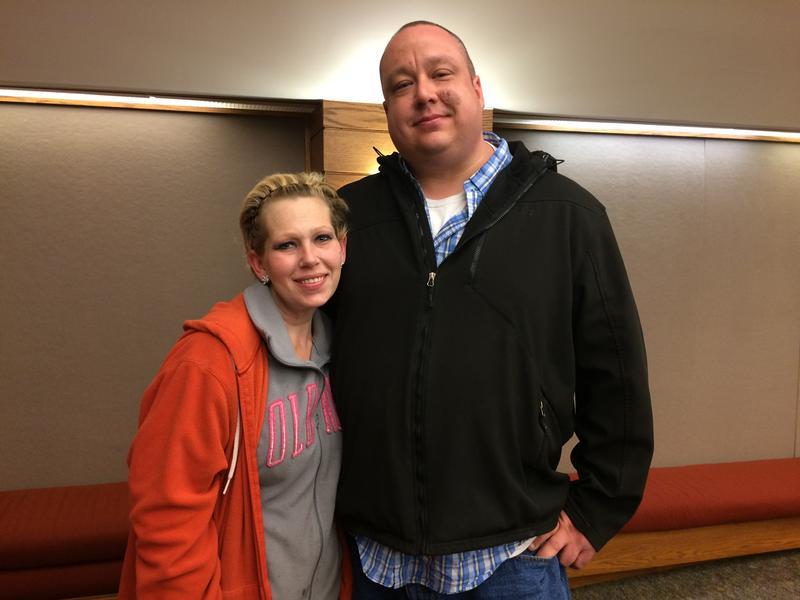 Howell resident Shannon Trittschler and her husband.