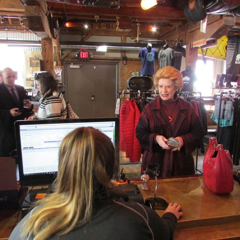 U.S. Sen. Debbie Stabenow (D-MI) visited businesses in Fenton, Michigan on Friday