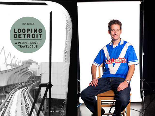 "Nick Tobier, the author of ""Looping Detroit: A People Mover Travelogue"""