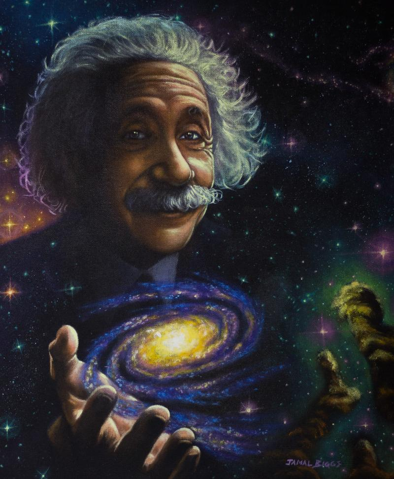 """Albert Einstein"" by Jamal Biggs"
