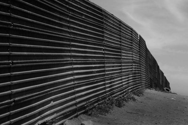 The U.S.-Mexico border near Tijuana and San Diego.