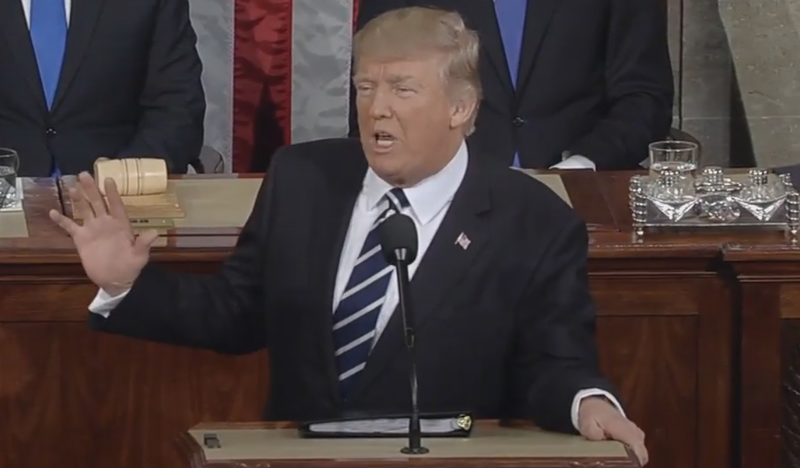 President Trump's first speech before a joint session of Congress delivered themes and promises that are very familiar.