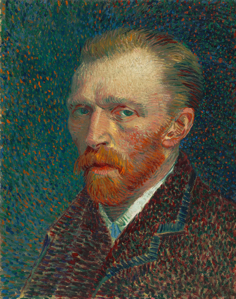 Vincent Van Gogh self-portrait, painted in 1887.