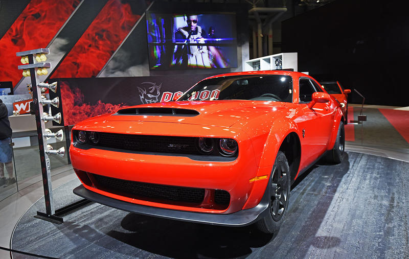 The Dodge Challenger Demon is one of the vehicles raising eyebrows at the New York International Auto Show.