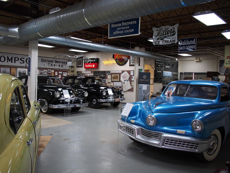 vintage cars at Ypsilanti Automotive Heritage Museum