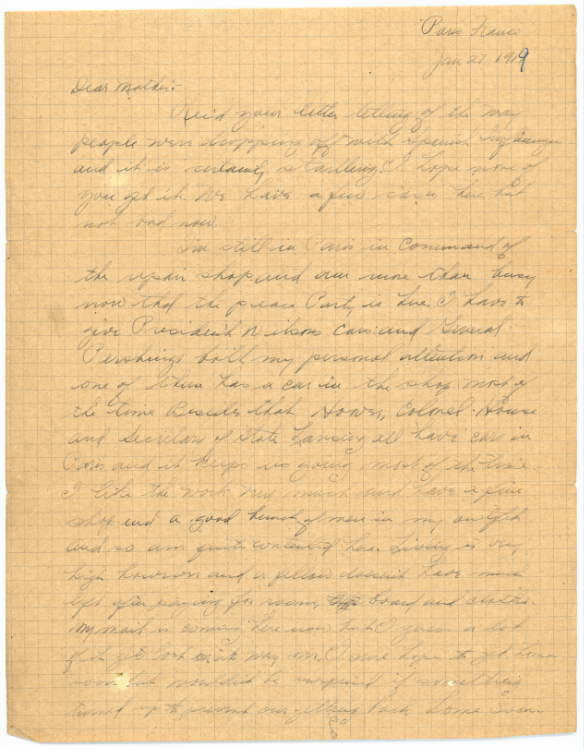 (1 of 2): One of Freeman McClintock's letters.