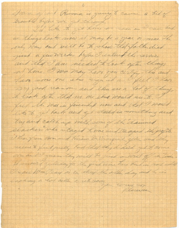 (2 of 2): One of Freeman McClintock's letters.