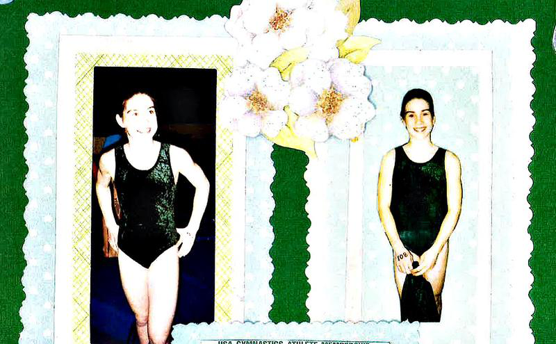 Larissa Boyce's scrapbook photos from the MSU Spartan youth gymnastics program