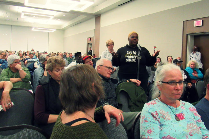A packed public comments hearing on the recent Nestle permit.