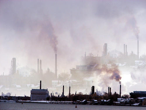 "According to a national report from Environment America, Detroit saw 161 ""dirty air days"" in 2015."