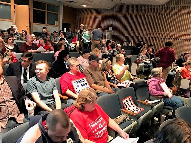 Members of the public submitted public comment for hours before Lansing City Council voted to rescind the resolution naming Lansing a