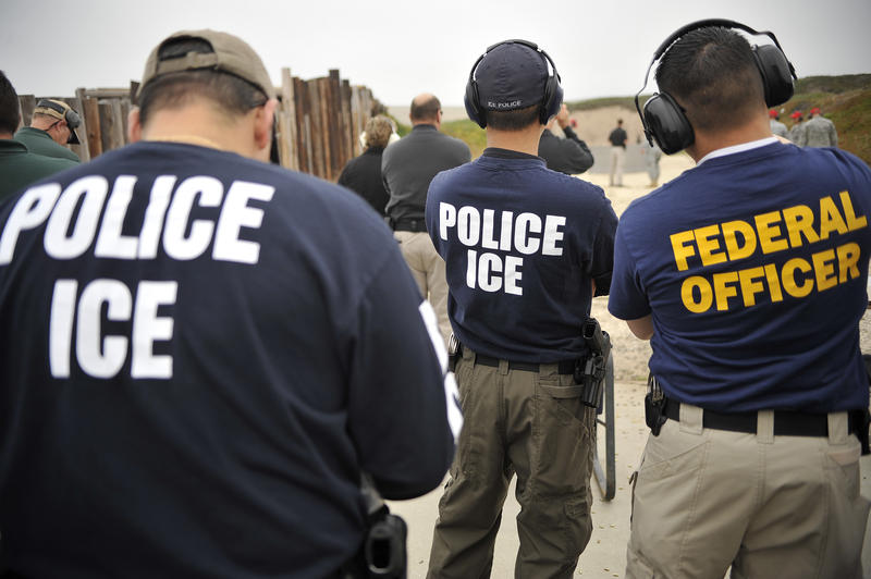 Immigration and Customs Enforcement - or ICE - agents