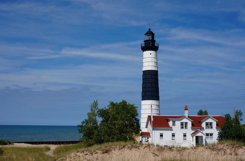 The Big Sable Lighthouse at Ludington State Park.