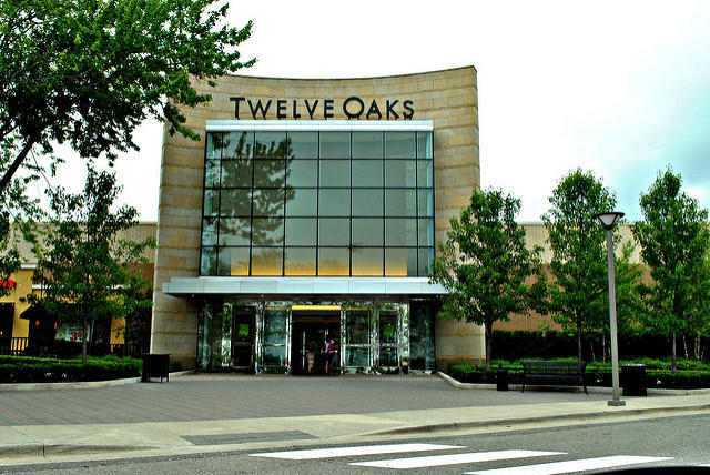front of twelve oaks mall