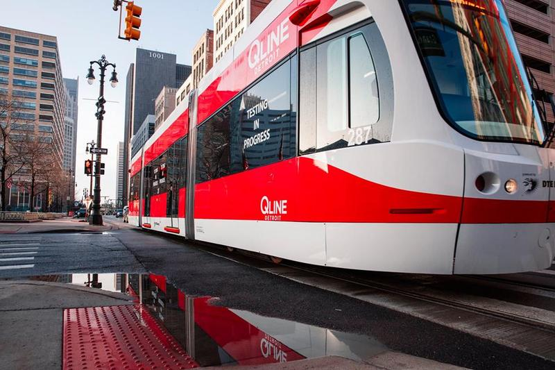 The long-awaited QLine track carries passengers up and down a 3.3-mile stretch of Woodward Avenue.
