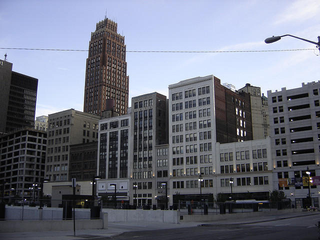 The old Hudson's Deparment Store site in Detroit