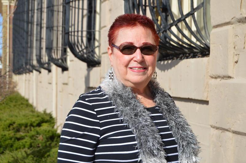 Judy Gail Krasnow standing outside Jackson prison