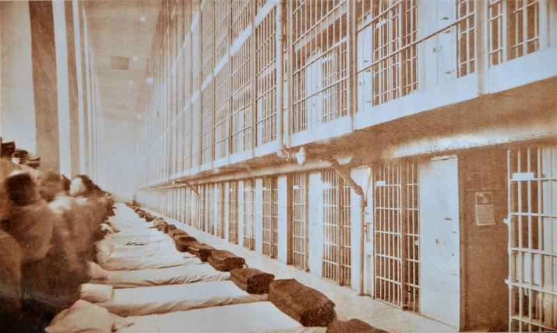 A historic picture of prison cells