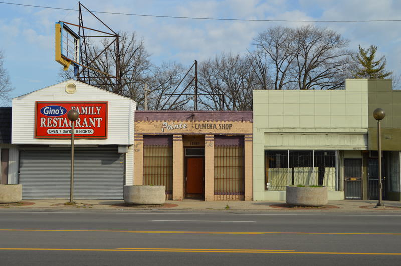 Close to 50 percent of the storefronts along East Warren Avenue in Detroit's MorningSide neighborhood are empty.