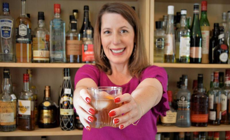 Tammy Coxen of Tammy's Tastings and her newly invented drink, The Stopover.