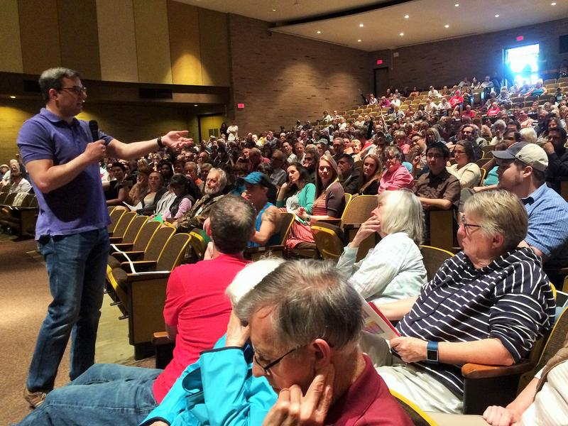 Rep. Justin Amash takes questions from constituents in Grand Rapids.
