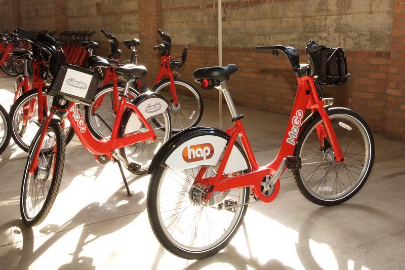 Red MoGo bikes