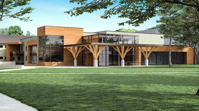 An architect's rendering of the new music building in Interlochen.