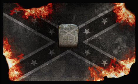 The burning of the Confederate Flag