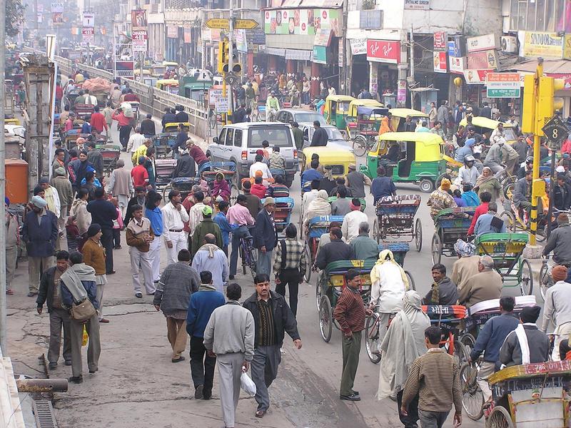 A Delhi city street scene
