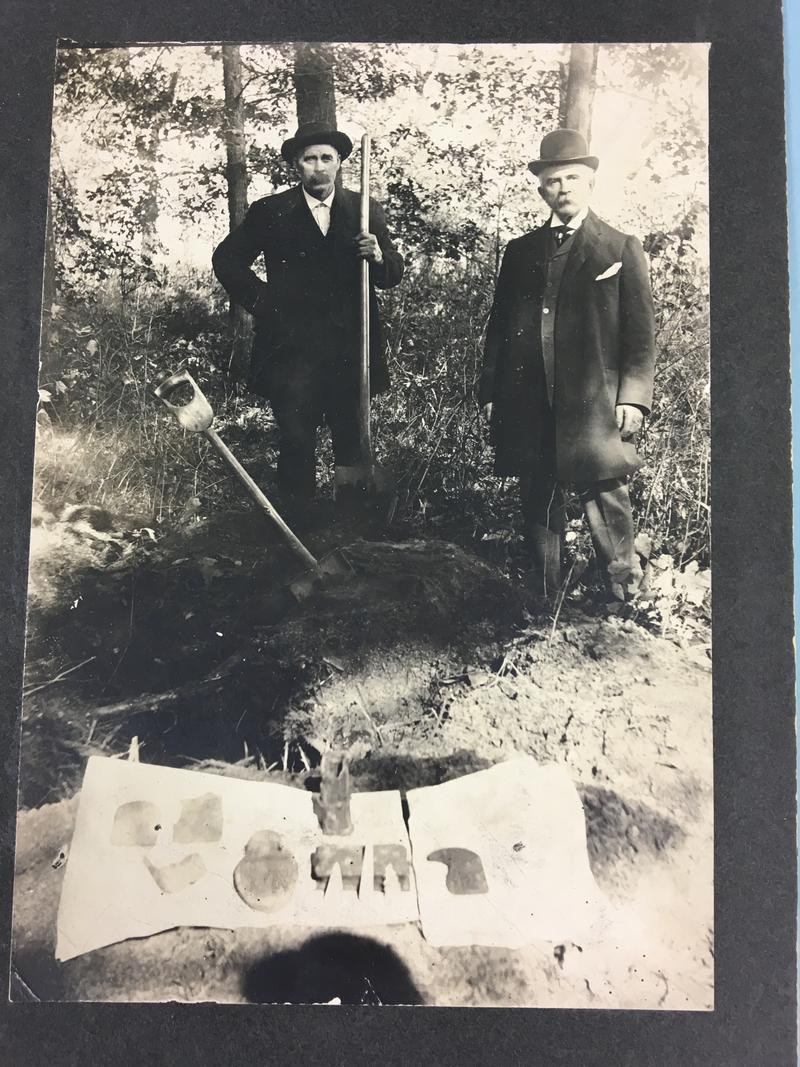 A photo of Michigan Secretary of State Daniel Soper (right) and Alpheus Scoby is on the left
