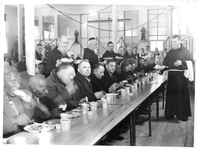 The Capuchin Soup Kitchen in the 1940s.